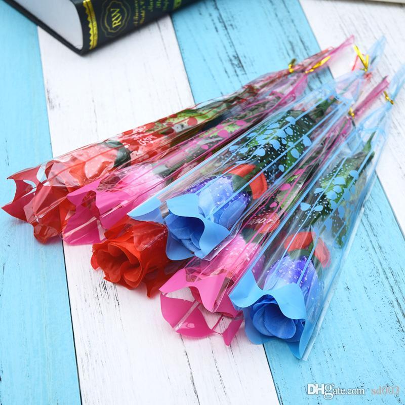 محاكاة الزهور الزخرفية الإبداعية LED تضيء الاصطناعي وهمية روز زهرة لعيد الحب الفتيات هدية باقة ألوان كثيرة 1 4ky ZZ