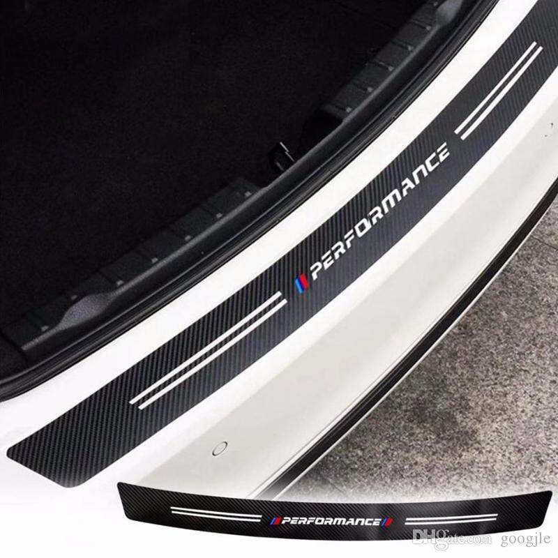 트렁크 꼬리 탄소 섬유 질감 범퍼 가드 장식 성능 스티커 트림 BMW M3 용 M4 Z4 X1 1 2 3 4 5 6 7 시리즈