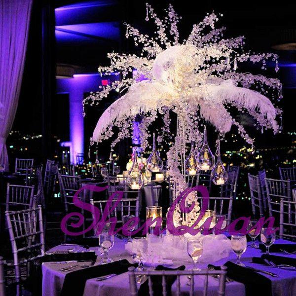 يتوهم ونبيلة الفضة والذهب blingbling الديكور شجرة الزفاف المركزية لحفل زفاف المعرض الحدث زينة