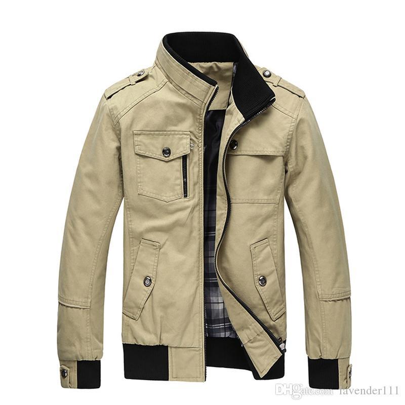 Nuova giacca casual da uomo multi-tasca collo alla coreana da uomo cappotto comodo giacche da uomo