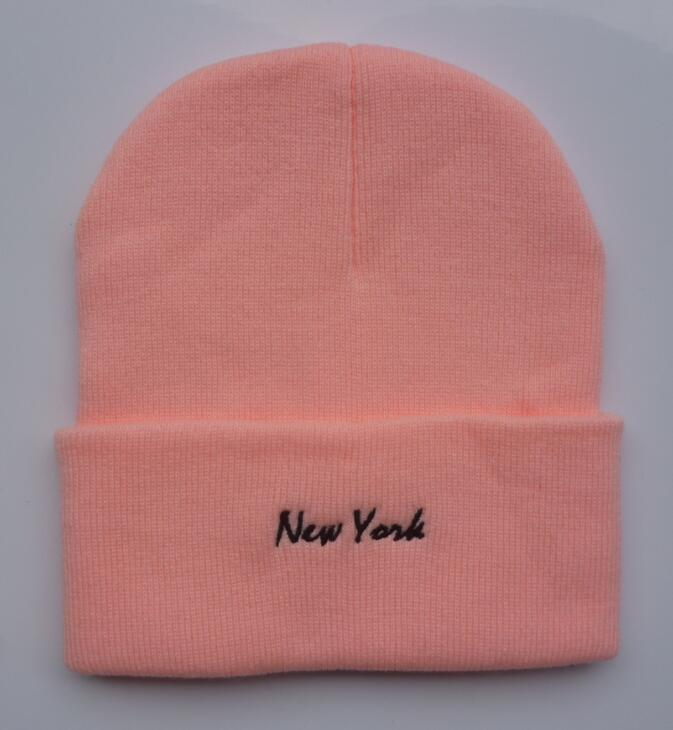 2019 Wholesale-New York Beanie hat, wool winter knitted caps crochet hats for man and women hip hop Skullies warm knitting Beanies