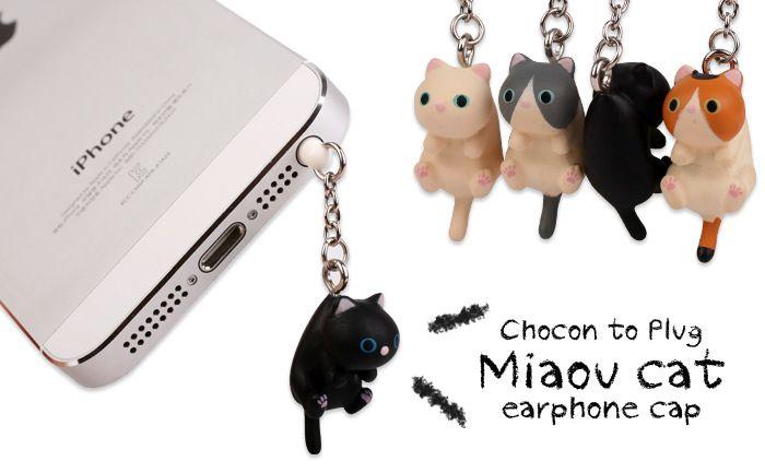 Sevimli Peynir Kediler 3.5mm Anti toz Kir-dayanıklı Kulaklık Jack Fiş Adaptörü Telefon Stoper Cap iphone 5 5 s 6 6 S