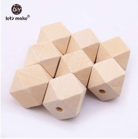 دعونا نجعل 20MM الخرز الخشب الخرز فاصل 100pcs التي لم تنته هندسية الخرز مجوهرات ل DIY قلادة خشبية 10MM 16MM