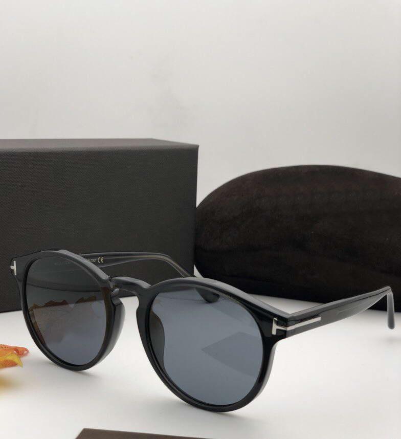 591 Negro Gris Ronda gafas de sol Ian-02 TF591 para hombre Sonnenbrille Gafas de sol Gafas Gafas de nuevo de la manera en la caja