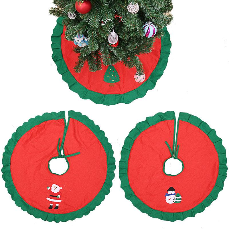 Christmas Decorations 36 Inch Red Christmas Tree Skirt with Snowman Design