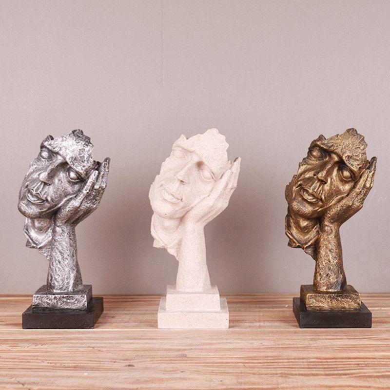 Творческие Статуэтки Молчание Мышление Статуя Смолы Декор Ручной Работы Старинные Украшения Украшения Статуэтка Статуя