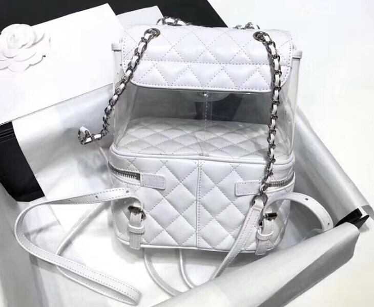 fd85cde26bf0 AAAAA A57824 22cm Crumpled Calfskin PVC Resin&Silver-Tone Metal Flap  Backpack Bag,Zip Closure