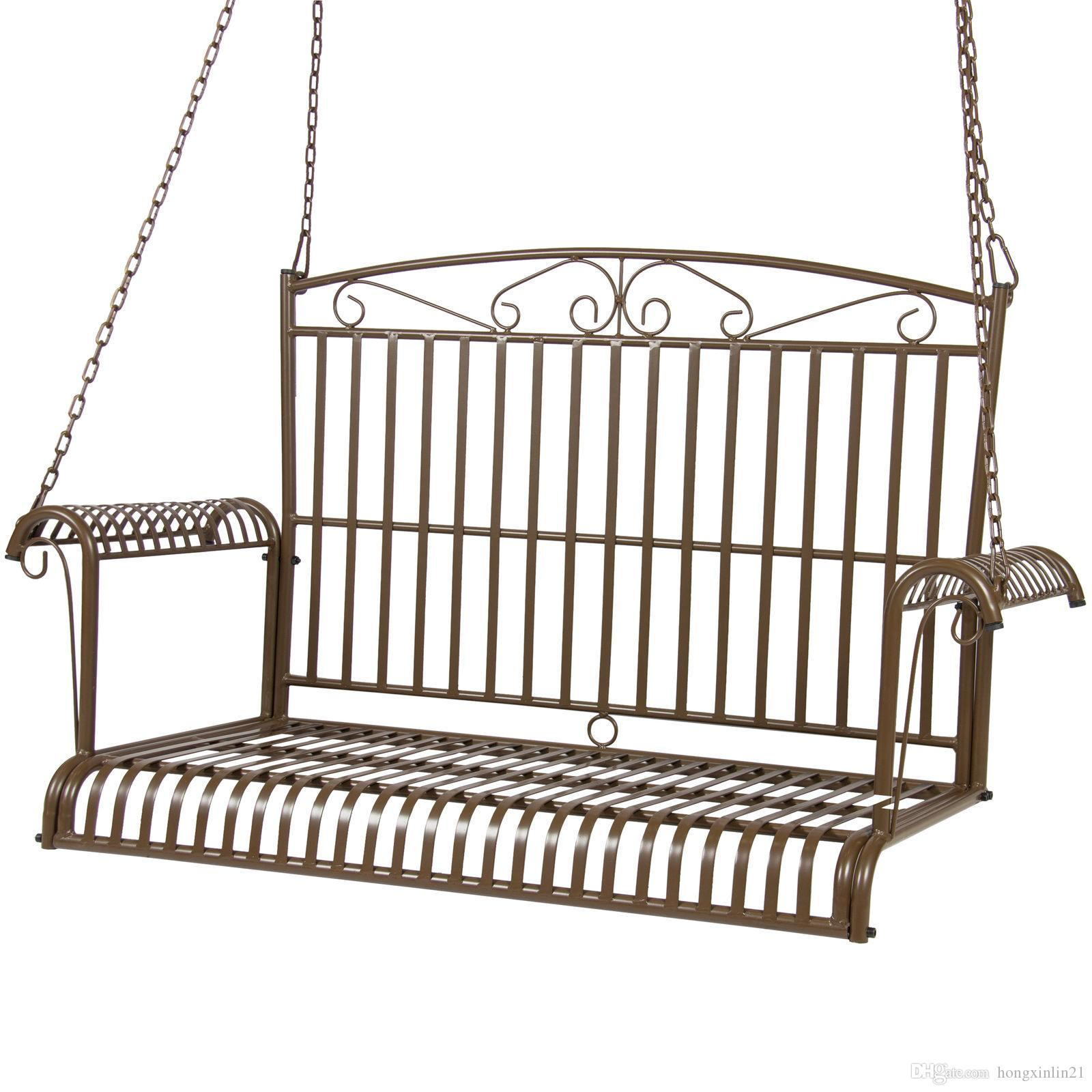 2020 Bcp Iron Patio Hanging Porch Swing Chair Bench Seat Outdoor Furniture From Hongxinlin21 91 45 Dhgate Com