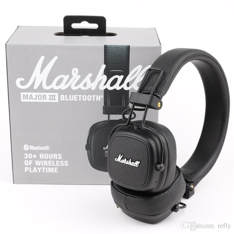 Marshall Major III 3.0 2.0 Cuffie senza fili Bluetooth Deep Bass Cuffie con isolamento acustico Wireless Major 3 Hi-Fi