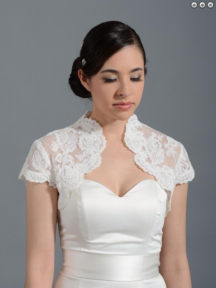 2018 Cheap Simple White Bridal Jacket Ruffles Custom Made Wraps Wedding Bolero Cheap Bridal Wear Free Shipping
