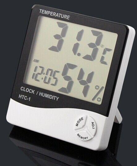 Thermomètre intérieur de haute précision et électronique avec réveil pour thermomètre à grand écran