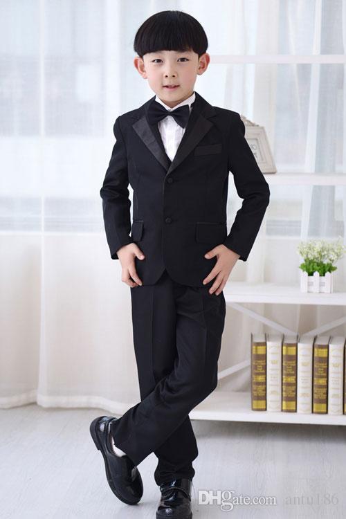 Erkek takım elbise çocuk takım elbise üç parçalı takım elbise (ceket + pantolon + yelek) yeni çocuk parti mezuniyet töreni resmi elbise