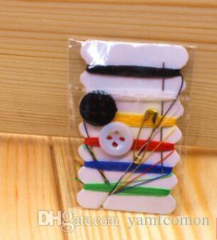 Livraison gratuite 10000 pcs / lot mini kit de couture / voyage couture kits 6 fils kit de couture outils de réparation