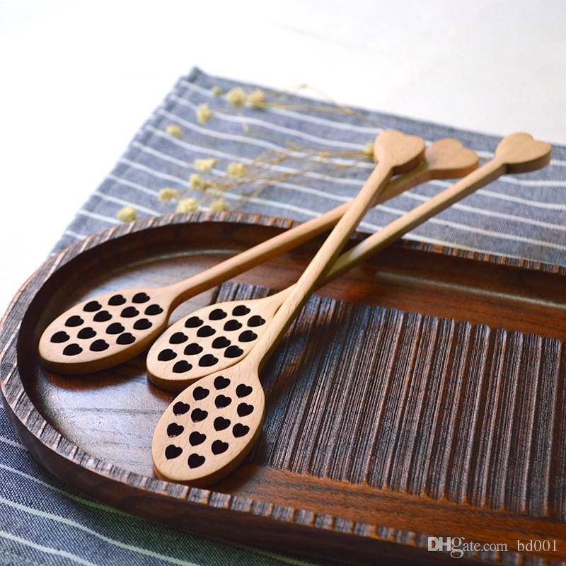 Miel agitada cuchara vajilla creativa en forma de corazón cucharón de mango de madera para el hogar herramientas de cocina accesorio de cubiertos 3 59xh ff