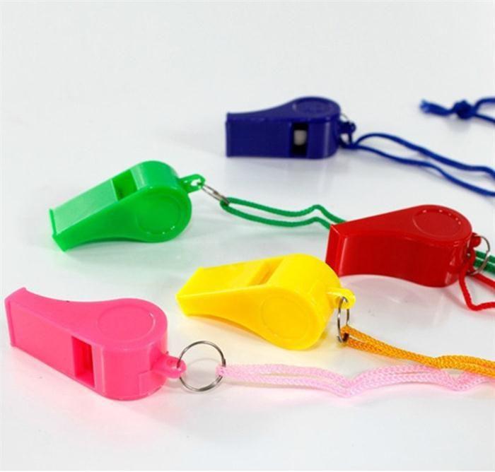 Пластиковый свисток с талрепом для лодок, плот, партия, бар, спортивные игры аварийного выживания громкий свисток инструмент NY025