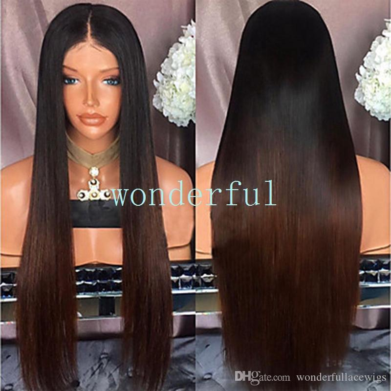 Reborn Doll Supplies Straight Dark Brown Wig 48 CM Head Size Looks Real Hair