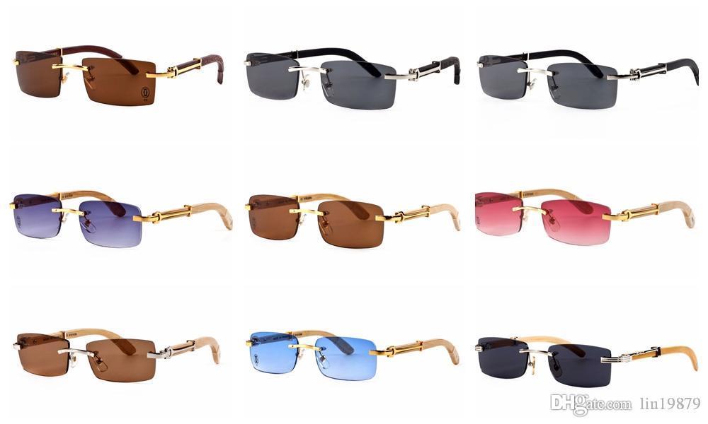 Бренд мужской летний стиль очки синий объектив золотой металл оправа рамка деревянные ноги поляризованные очки oculos мужские очки Солнцезащитные очки для