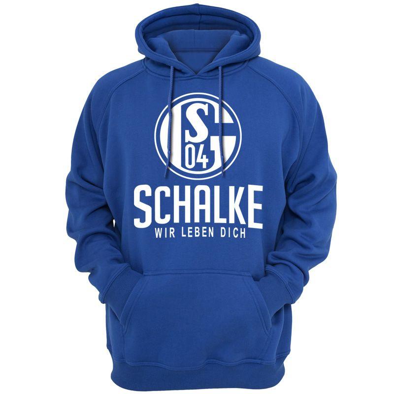 Primavera estación del otoño Hoodies Hombres Schalke 04 de Alemania capucha capucha Casual Ropa de la moda prendas de vestir exteriores 111