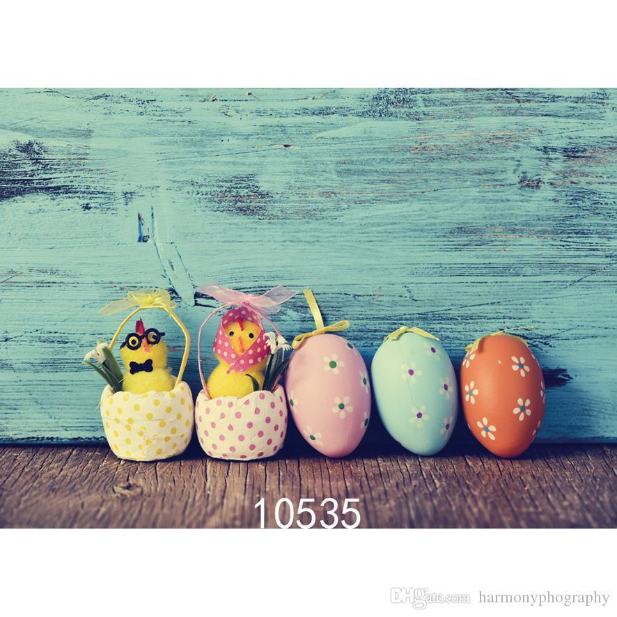 Cartoon Easter Eggs Photo Background for Photo Studio Camera Fotografica Vinyl Cloth Photography Backdrops for Holiday Kid