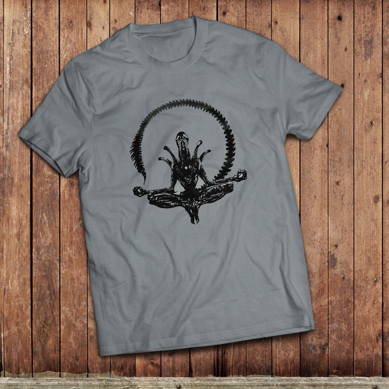 Alien Yoga T Shirt Xenomorph Tee Inspired By The Classic Movie Funny Unisex Casual Tee Gift Funny T Shirt Sites Crazy T Shirt Sayings From Trendsspace 12 96 Dhgate Com