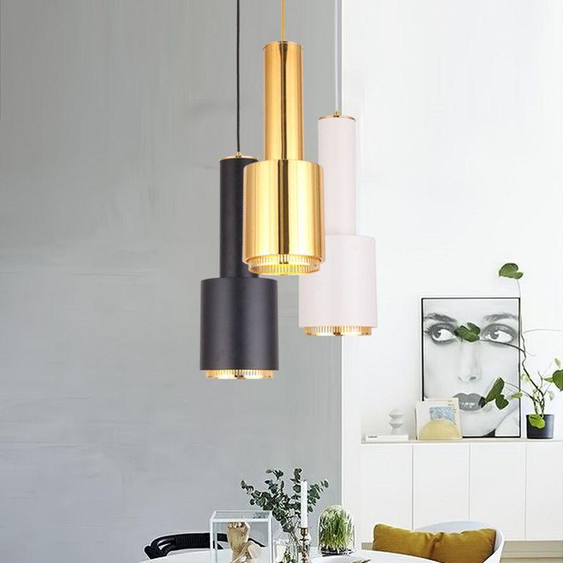 Sencillo y moderno Artek Metal Lámpara Colgante Cabeza Única Comedor Hierro Abajur Bar Arte Cordón Colgante Lámparas Accesorios