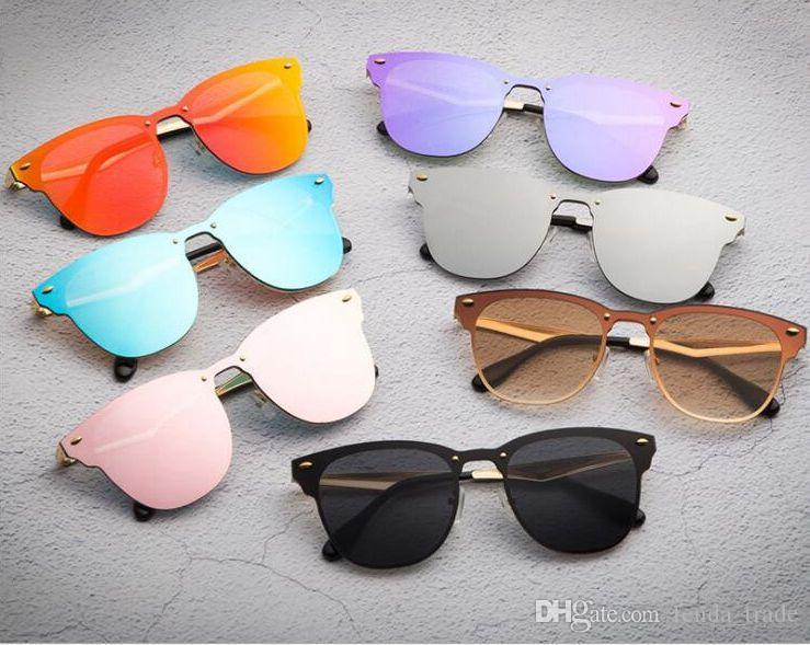 39% DE DESCUENTO CALIENTE Diseñador de la marca Gafas de sol para hombres Mujeres Casual Ciclismo Moda al aire libre Gafas de sol siamesas Gafas de ojo de gato Spike