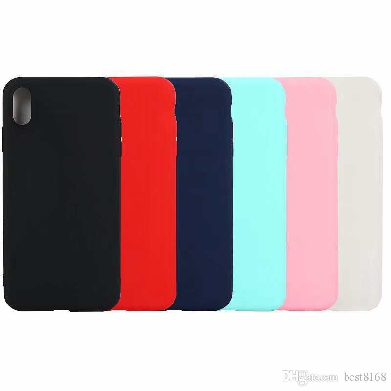 Тонкий Матовый Мягкий ТПУ чехол для Iphone 12 MINI Pro 11 XR XS MAX X XS 8 7 6 Galaxy S20 S10 Ультра Плюс Примечание 20 10 Тонкая Обычная крышка телефона Коке