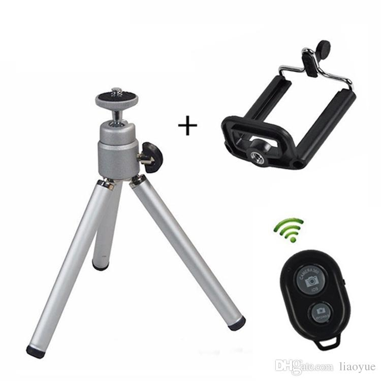 Universal Mini 360 Full Metal Rotating Extendable Mini Tripod + Stand Holder For Camera Cell phone bracket holder mobile Cellular handset