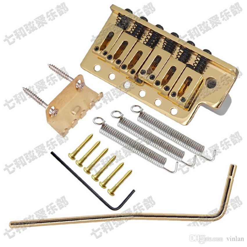 Ponte per chitarra d'oro a mano sinistra Parti per chitarra 6 corde Ponte per chitarra elettrica Accessori per strumenti musicali