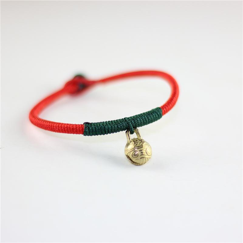 Wonlife 1 Pz Donne Lucky Red String Bracelets Bracciali Uomo Gioielli 100% Handmade Bangles Little Bell Boho Girls Regalo