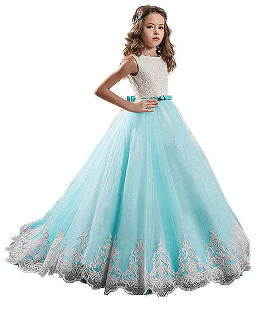 Großhandel Elegante Spitze Blumenmädchen Kleider Pailletten Applique  Kleider Für Hochzeit Kinder Kleid Für Hochzeit Formale Gelegenheit Von