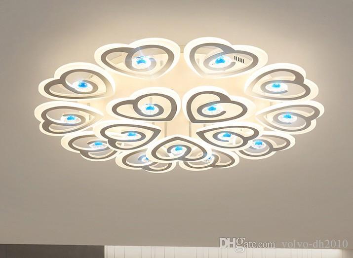 Новое прибытие современные светодиодные потолочные светильники для гостиной Спальня Кабинет Главная деко Кристалл акриловые лампы светильники люстры освещение LLFA