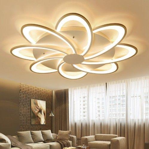 Großhandel Neue Moderne Kunst Acryl LED Deckenleuchten Wohnzimmer  Deckenlampe Schlafzimmer Dekorative Lampenschirm Lamparas De Techo Leuchten  LLFA Von ...