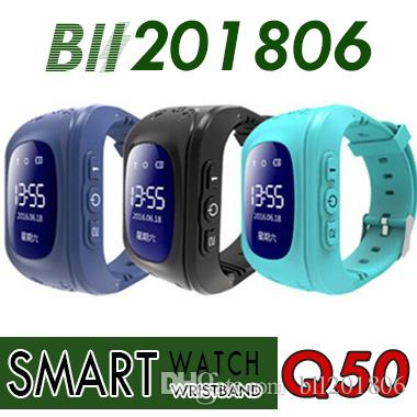 2018 Q50 Kids GPS Tracker Children Smart Phone Watch SIM Quad Band GSM Safe SOS Call For Android IOS Smart Watch Sim Card