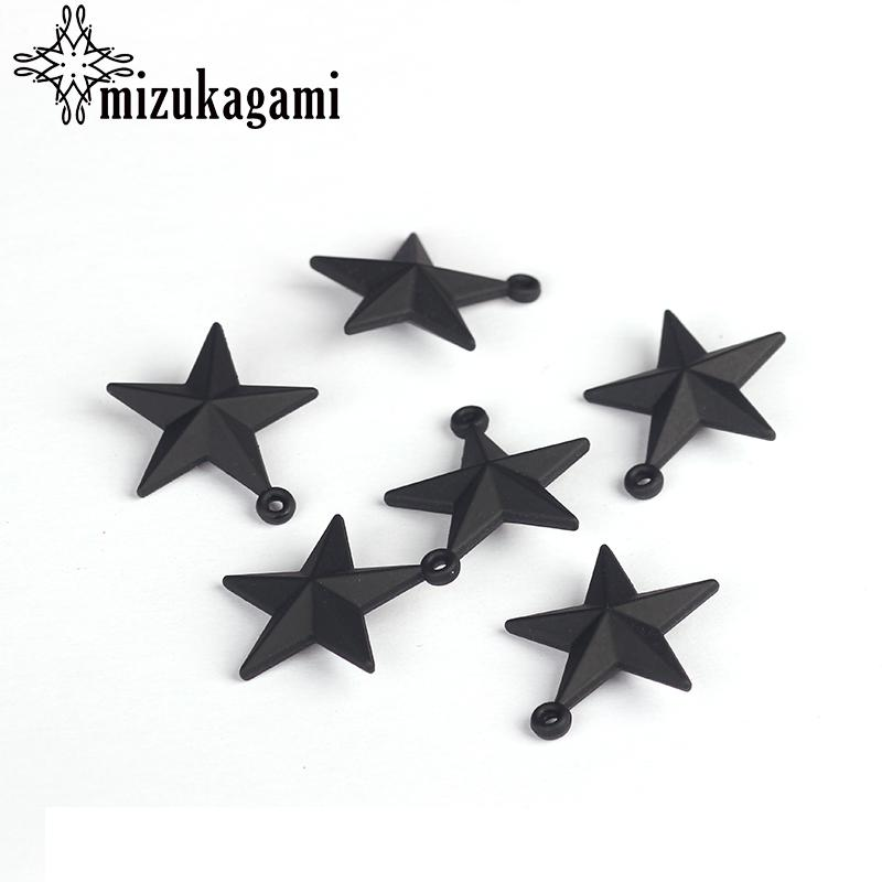 whole sale31*34mm Acrylic Charms Pendant Big Black Star Charms Pendant For DIY Jewelry Making Finding Accessories
