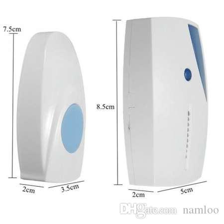 NEW 70-110M Range Remote Control Ringing Door Bells Smart LED Indication Wireless Music Door Bell Transmitter+Receiver #0914