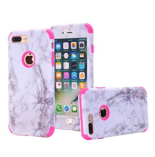 Samsung Custodia Custodia Cover In Marmo Antiurto IPhone 7 8 Plus 6 6S Plus 5 5S SE Cover Protettiva In Silicone Rigido In Silicone IPhone 7 8 6 Plus ...