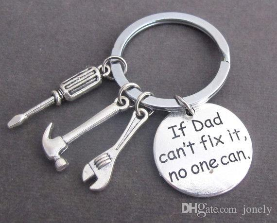 Keychain Key Ring Father's Day Gift If Dad Can't Fix It No One Can Love You Daddy Gadget Pendant