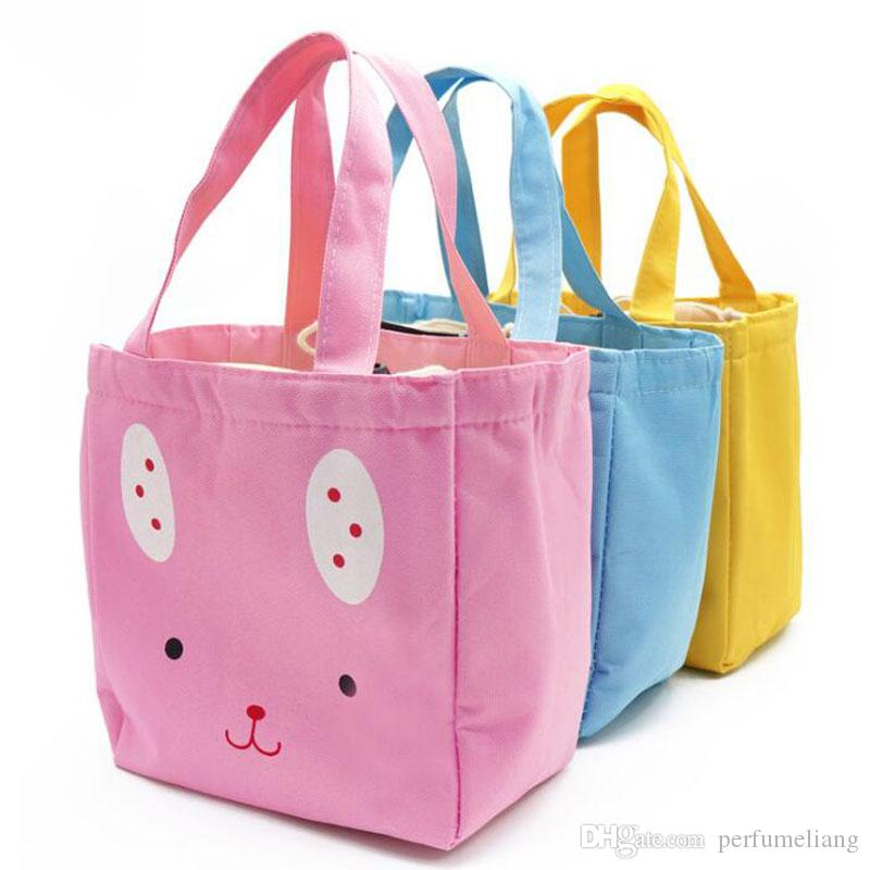 Bolsa de dibujos animados bolsas de niña almuerzo aislado termal refrigerador almuerzo almuerzo almacenamiento de picnic mujeres bolsas de asas lindas ZA6848 MBEOL