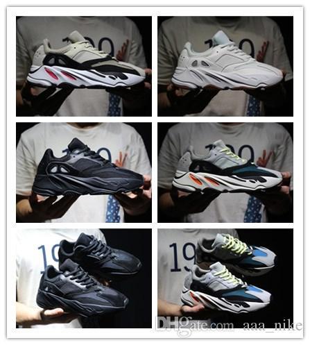 Adidas Yeezy 700 Boost Runner 700 hot selling Высокое качество Kanye West Wave Runner 700 Seankers Спортивная кроссовка Мужская женская кроссовки Спортивная обувь с коробочкой Размер 36-45