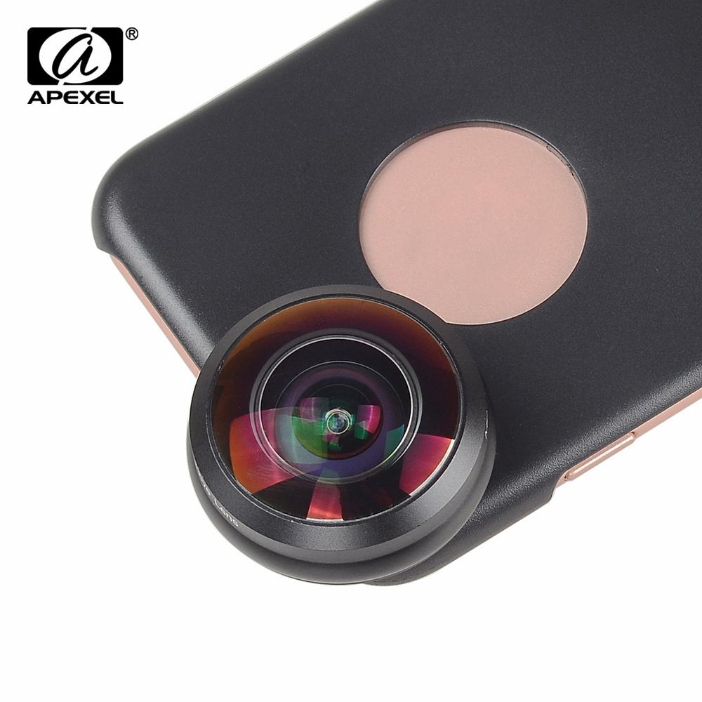 wholesale Mobile Phone Lens 238 degree super fisheye lens, 0.2X Wide angle lens with back case and clip for iPhone 6 6s plus 7