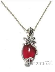 colar de senhora pingente de libélula diamon vermelho (xysppfh)