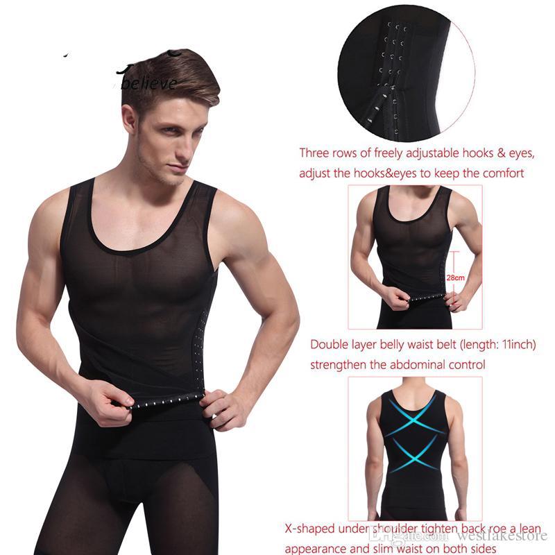 Hot Shaper Men Body Shaper chaleco cintura Cincher y control de barriga adelgazamiento vientre shaper ropa interior fajas fajas