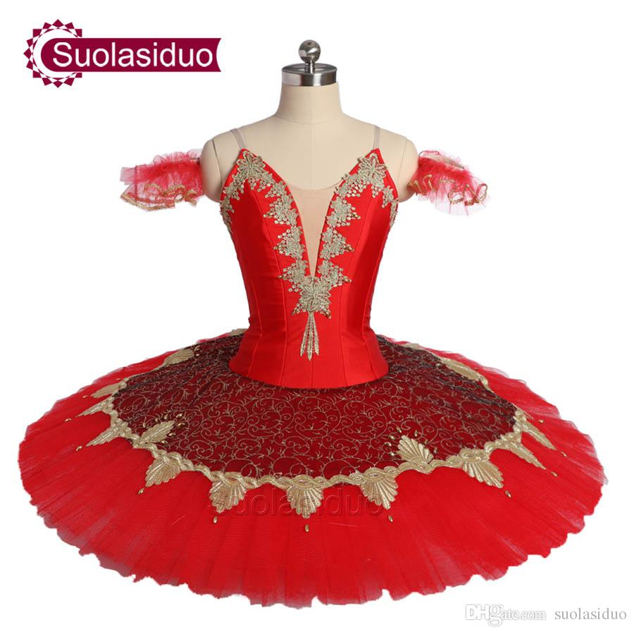 New Arrival Adult Red Classical Ballet Tutu The Remonda Stage Performance Costumes Women Ballet Dance Apperal Girls Ballet Skirt