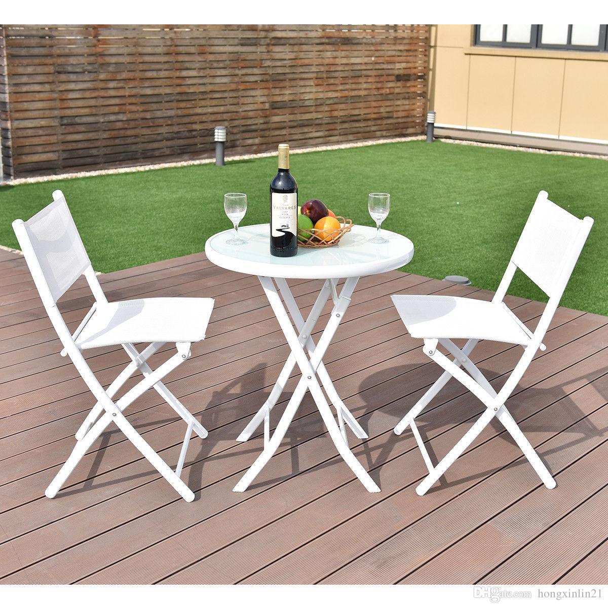 Fabulous 2019 Folding Bistro Table Chairs Set Garden Backyard Patio Furniture White New From Hongxinlin21 71 35 Dhgate Com Bralicious Painted Fabric Chair Ideas Braliciousco