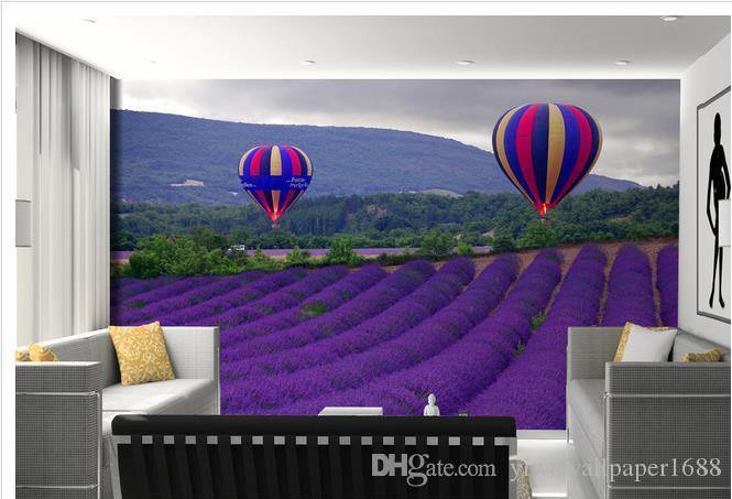 Пользовательские любого размера фото лаванды воздушный шар тв фоне стены 3d фрески обои для гостиной