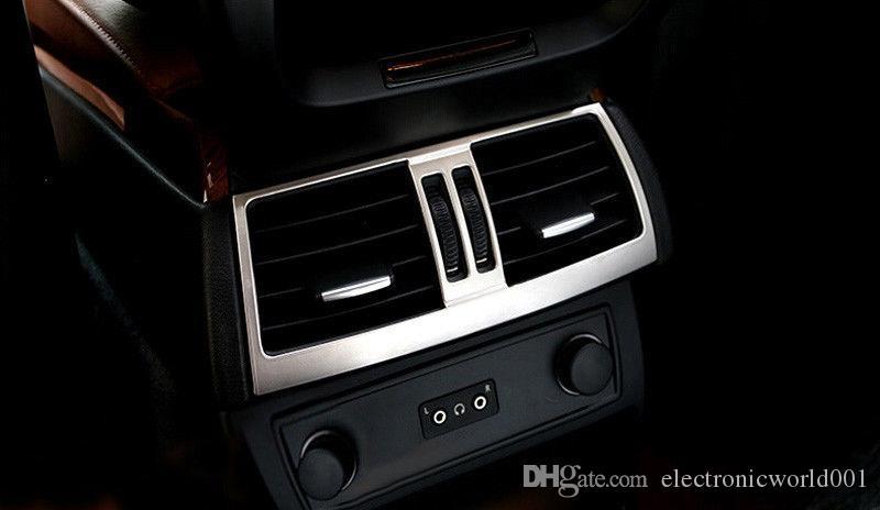 1x Real Carbon Fiber Central Outlet Frame Trim for BMW e70 e71 X5 X6 2008-2013