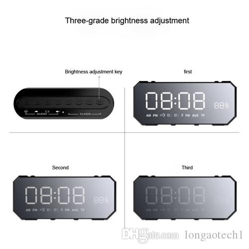Mini 10W Bluetooth Wireless Speaker with LED Clock, Lightweight, Big Sound, Bass and Large Dimmable Display