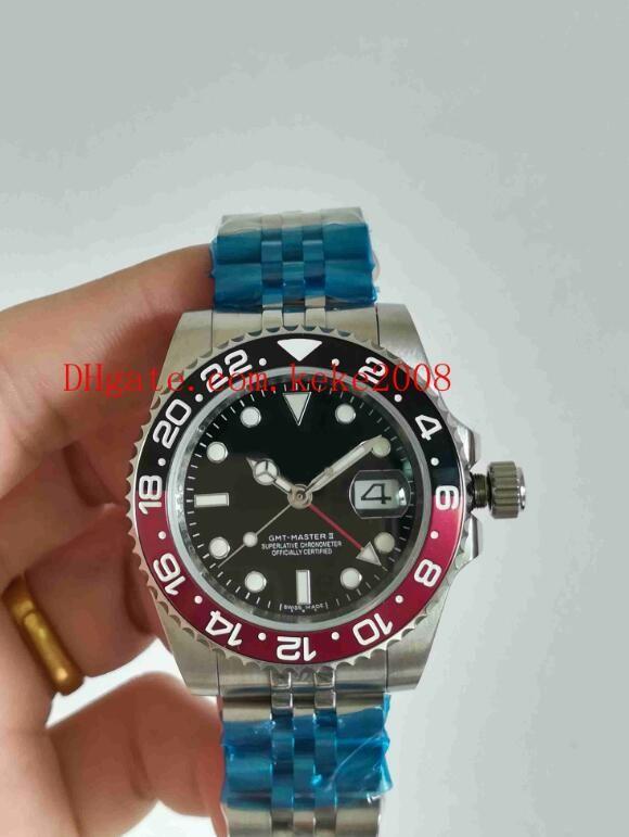 5 estilo 2018 reloj de lujo 126710 126710BLRO 40 mm bisel de cerámica Asia 2813 movimiento de acero inoxidable mecánico automático para hombre relojes de reloj