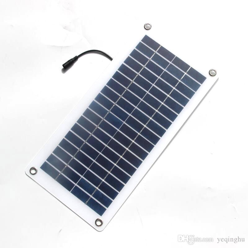 Buheshui 18v 12v 10w Solar Cell Transparent Semi Flexible Polycrystalline Diy Solar Panel Module Outdoor Connector Dc 12v Charger Bp Solar Panels For Sale Free Solar Panels For Your Home From Yeqinghu